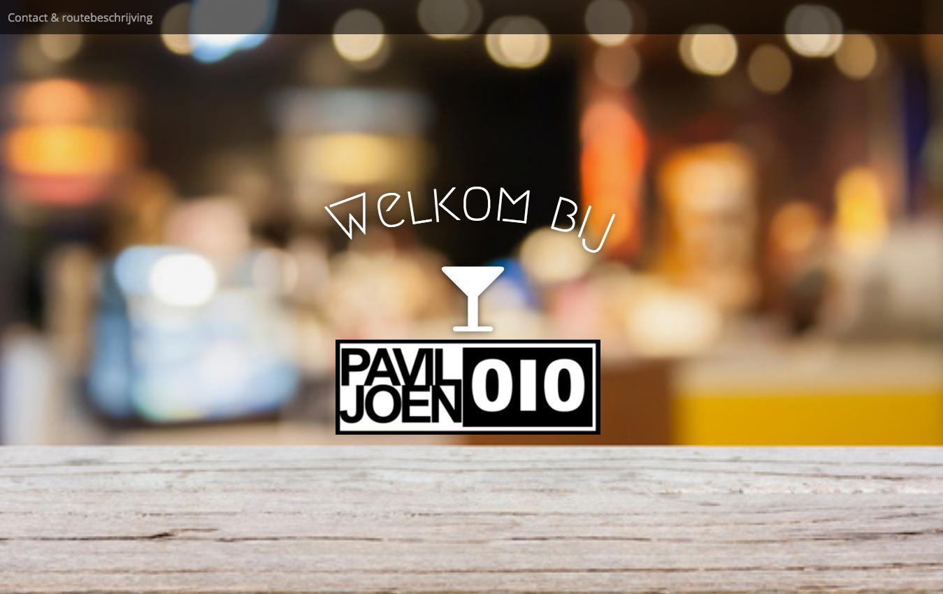 Screen Paviljoen010 website